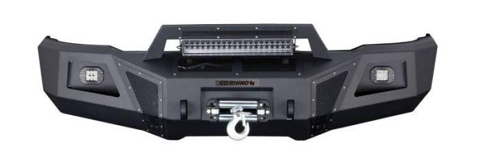 Go Rhino - Defensa delantera Go Rhino BR10 para Chevrolet Silverado 2500 HD, 3500 HD 2011 - 2014