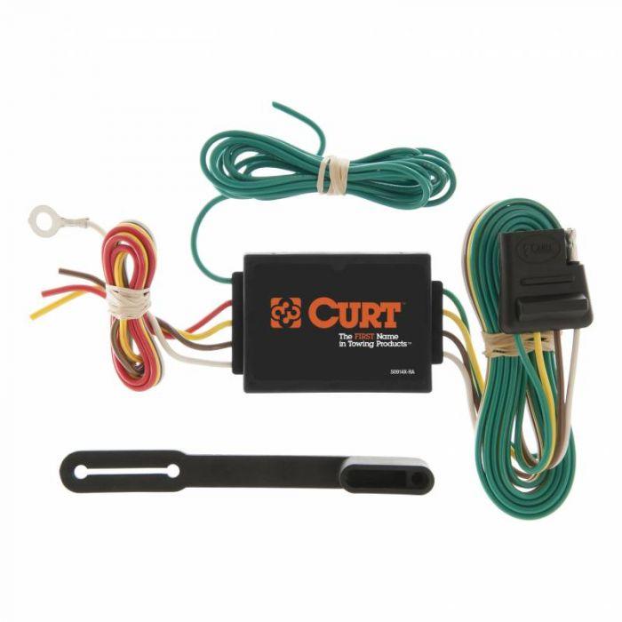 Curt Manufacturing - Accesorios electrónicos para remolque - Convertidor de corriente a 4 vías y protector de circuito