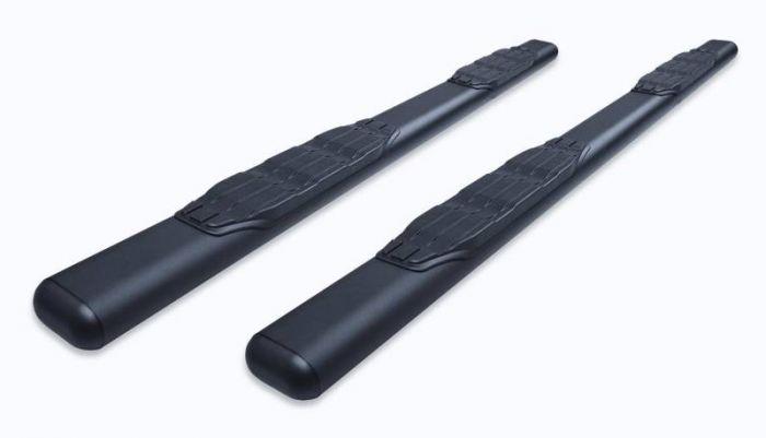 "Big Country - 4"" 1000 Series 80"" Estribos + brackets Nissan  D-22 2000-2015 Negro Texturizado"