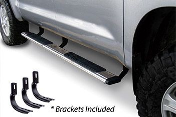 "Go Rhino - 5"" OE Xtreme 80"" Estribos + brackets - Low Profile Chevrolet S10 16-17 Inoxidable"