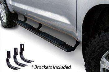 """Go Rhino - 5"""" Widesider 80"""" Estribos + brackets de instalación Nissan NP300 Frontier/Navara 16-20 Negro Texturizado"""