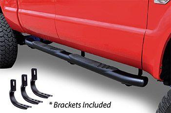 "Go Rhino - 5"" OE Xtreme 80"" Estribos + brackets Ford Ranger 13-19 Negro Xtra Cab"