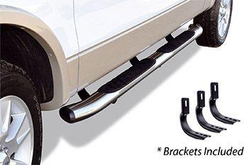 """Go Rhino - 5"""" Widesider 80"""" Estribos + brackets de instalación Nissan NP300 Frontier/Navara 16-20 Cromado"""