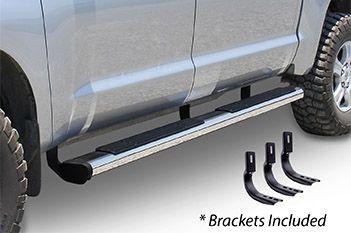 """Go Rhino - 6"""" Widesider 80"""" Estribos + brackets de instalación Nissan NP300 Frontier/Navara 16-21 Inoxidable"""