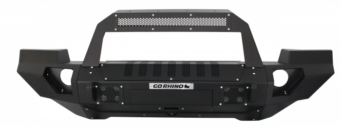 Go Rhino - Combo Defensa BRJ40 + Full End Caps + Barra de luz RocklineJeep Wrangler 07-17