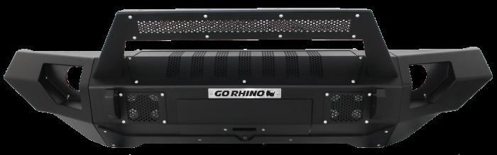 Go Rhino - BRJ40 Negro Texturizado + Straight End Caps + soporte Roadline barra Led Jeep Wrangler JK 07-18