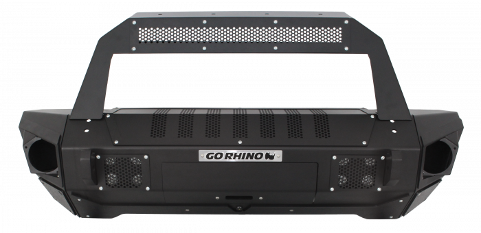 Go Rhino - Combo Defensa BRJ40 + Stubby End Caps with Rockline Light Mount BarJeep Wrangler 07-17