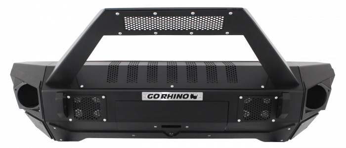 Go Rhino - Combo Defensa BRJ40 + Stubby End Caps with Trailline Light Mount Bar Jeep Wrangler 07-17