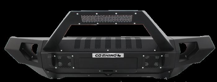 Go Rhino - Combo Defensa BRJ40 + Straight End Caps + soporte Trailline para barra Led Jeep Wrangler JK 07-18