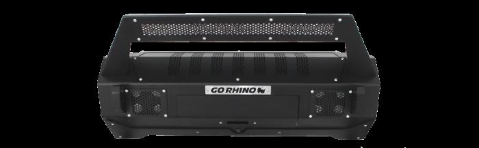 Go Rhino - Defensa BRJ40 (Solo Centro) + soporte Roadline para montaje de luz Jeep Wrangler JK 07-18