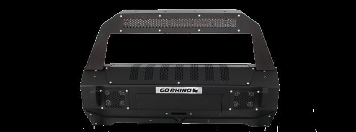 Go Rhino - Defensa BRJ40 (Solo Centro) + soporte Rockline para montaje de luz Jeep Wrangler JK 07-18