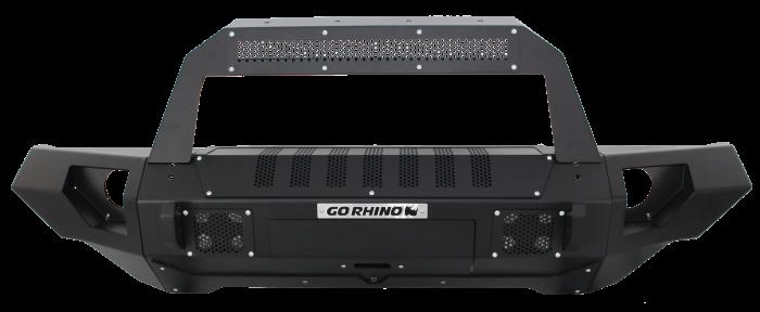 Go Rhino - BRJ40 Negro Texturizado + Straight End Caps + Soporte Rockliner para montaje de Luz Jeep Wrangler JK 07-18