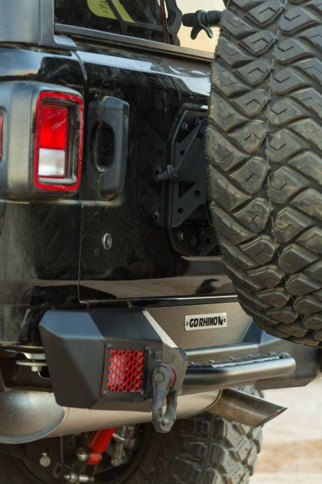 Go Rhino - Kit de reubicación de llanta para defensa Rockline  Jeep Wrangler JL 18-21