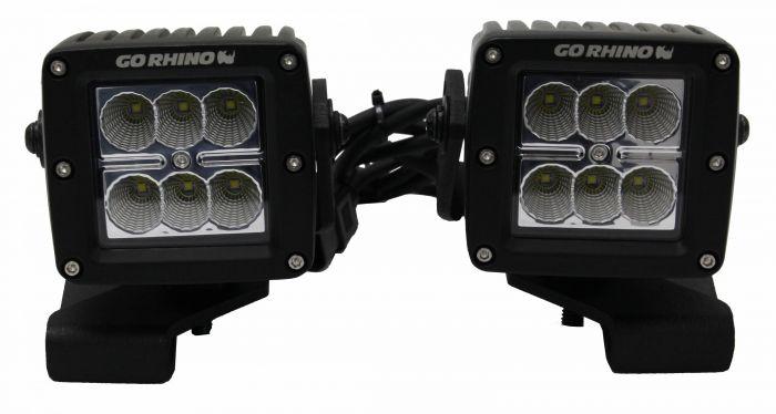 "Go Rhino - Montaje para Cubo LED 3"" Jeep Wrangler JL 18-20"