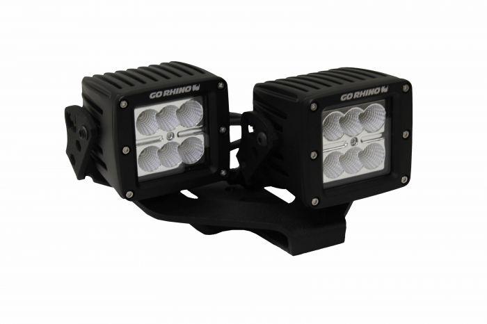 "Go Rhino - Montaje para Cubo dual LED 3"" Jeep Wrangler JL 18-21"