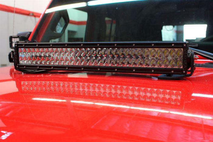 "Go Rhino - Montaje para Barra LED 20"" doble Jeep Wrangler JL 18-21"