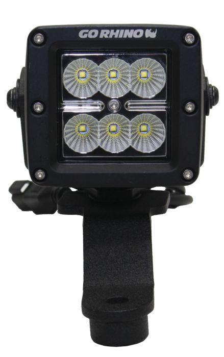 "Go Rhino - Montaje delantero para LEDs cubo sencillo 3"" Jeep Wrangler JL 18-21 / Jeep Gladiator 20-21"