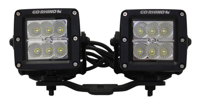 """Go Rhino - Montaje para 2 Cubos 3"""" Jeep Wrangler JL 18-21 / Jeep Gladiator 20-21"""