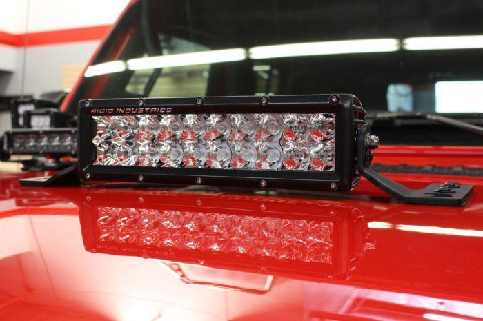 "Go Rhino - Montaje para Barra LED 10"" doble hilera Jeep Wrangler JL 18-20"