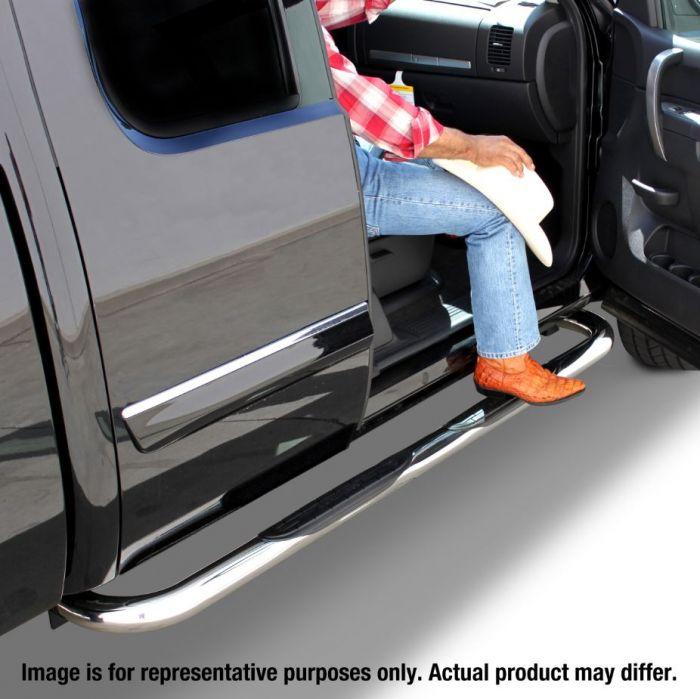 "Big Country - Estribos redondos 3"" Inoxidable Dodge Ram 1500 2019 Crew Cab"