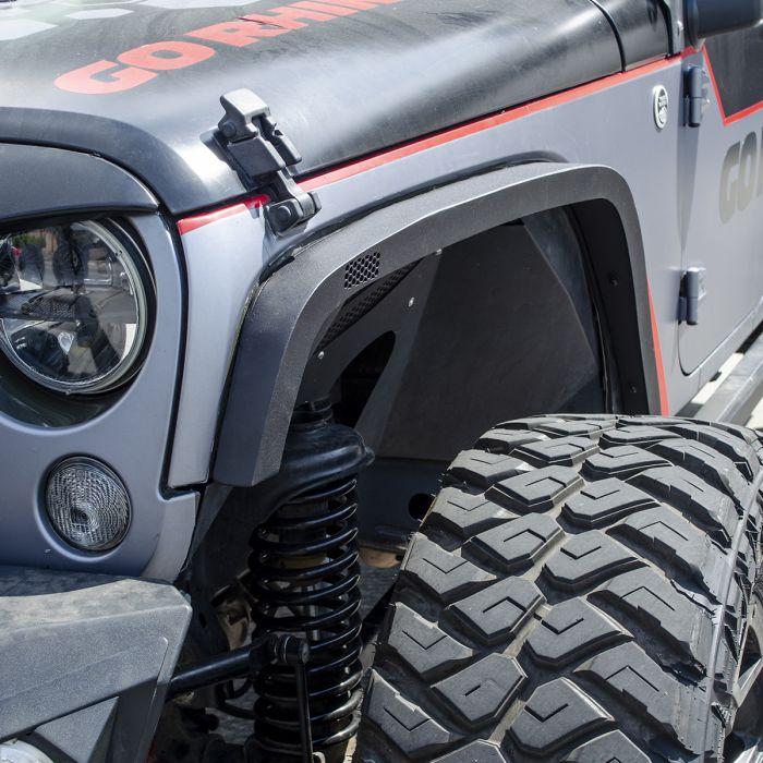 "Go Rhino - Go Rhino #701031T Cantoneras Frontales Roadline 3"" Jeep Wrangler JK 2/4 puertas 2007-2018"