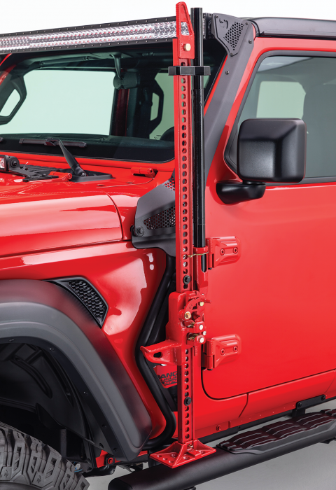 Go Rhino - Montaje delantero para Gato Hidraulico - Jeep Wrangler JL 18-21 / Gladiator 20-21 (Lado Conductor)
