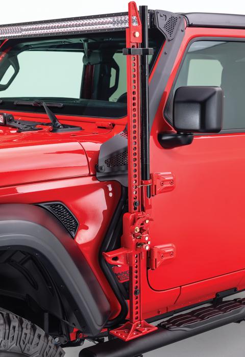 Go Rhino - Montaje delantero para Gato Hidraulico - Jeep Wrangler JK 07-18