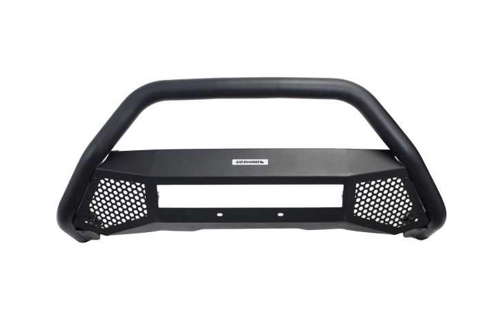 Go Rhino - RC4 LR Skid Plate Negro Texturizado Nissan NP300 16-20 (Defensa + Brackets)