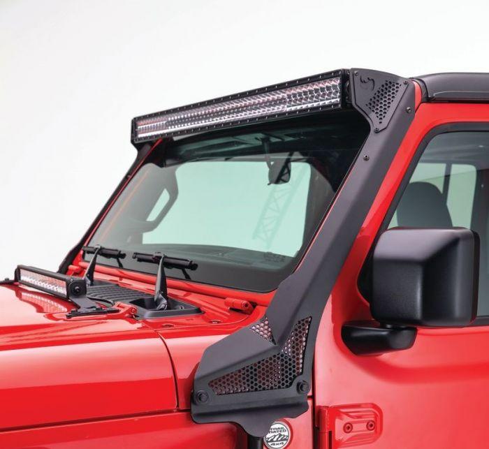 "Go Rhino - Montaje para Barra LED de 50"" Jeep Wrangler JL 18-21 / Jeep Gladiator 18-21"