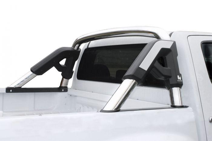 Go Rhino - Roll Bar GR con bracket para tapa de batea Nissan NP300 16-20 Inoxidable