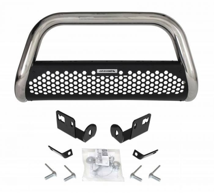Go Rhino - RC2 Defensa + Brackets Chevrolet Silverado 1500 19-20 Acero Inoxidable