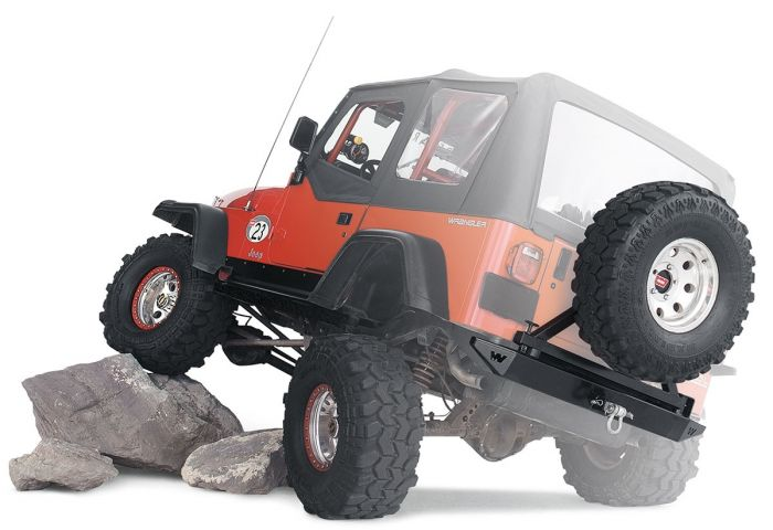 Warn - Defensa Trasera Rock Crawler para Jeep Wrangler YJ 87-95