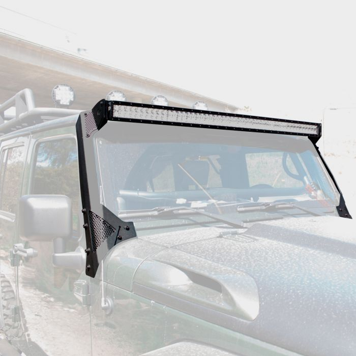 Go Rhino - Light Bar XE Series WLF Go Rhino Jeep Wrangler JK 07-18