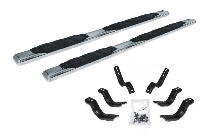 "Go Rhino - 5"" 1000 Series Fusion Estribos + Brackets Jeep Wrangler JL 18-21 Inoxidable"