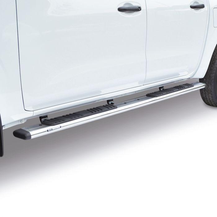 "Go Rhino - 5"" WIDESIDER Platinum + Brackets Inoxidable Jeep Wrangler 18-20"