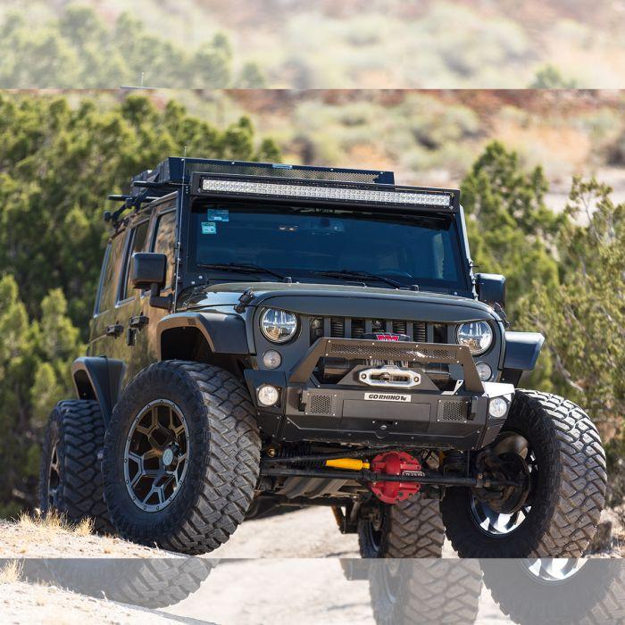 "Go Rhino - Marco de luz en parabrisas WLF para barra 50"" Jeep Wrangler JK 07-18"