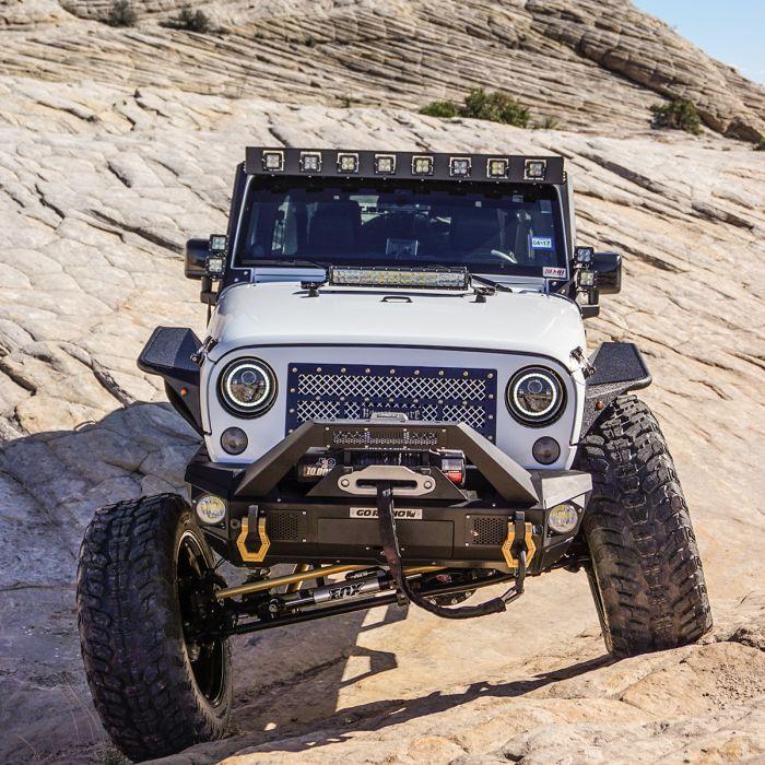 "Go Rhino - Marco de luz en parabrisa WLF 8 duallys 3"" Jeep Wrangler JK 07-18"