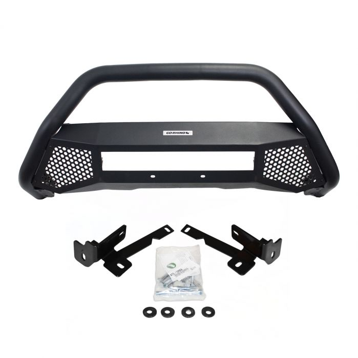 Go Rhino - RC4 LR Skid Plate Negro Texturizado Toyota Tacoma 16-21 (Defensa + Brackets)