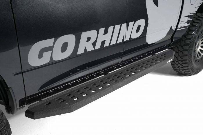 """Go Rhino - Estribos RB20 87"""" Chevrolet Silverado 1500 14-17 y 2500HD/3500HD 15-17 (Poliurea)"""