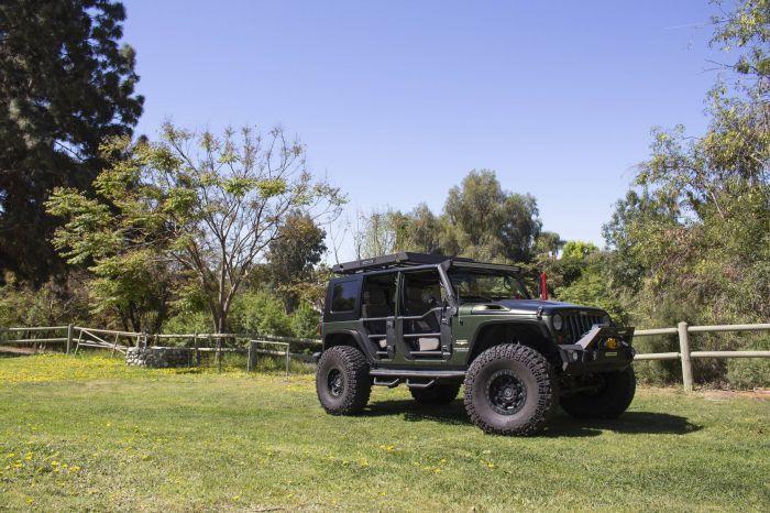 Go Rhino - Puertas Tubulares Traseras Trailline Jeep Wrangler JK 07-18