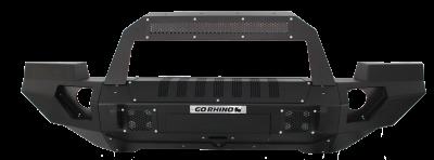 Go Rhino - BRJ40 Negro Texturizado + Full End Caps + soporte Rockline barra Led Jeep Wrangler JK 07-18 - Image 1