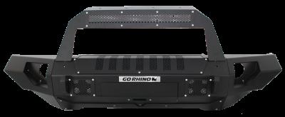 Go Rhino - BRJ40 Negro Texturizado + Straight End Caps + Soporte Rockliner para montaje de Luz Jeep Wrangler JK 07-18 - Image 1