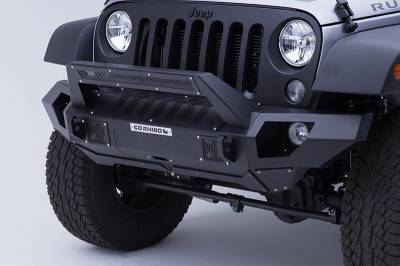Go Rhino - Combo Defensa BRJ40 + Straight End Caps + soporte Roadline para barra Led Jeep Wrangler JK 07-18 - Image 1