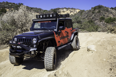 Go Rhino - Estribos RB10 Jeep Wrangler JK 07-18 4 puertas Negro Texturizado - Image 3