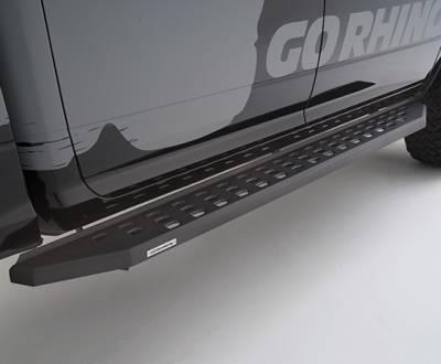Go Rhino - Estribos RB20 Negro Texturizado Jeep Wrangler JL 18-20 4 puertas - Image 1