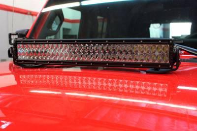 "Go Rhino - Montaje para Barra LED 20"" doble Jeep Wrangler JL 18-21 - Image 1"