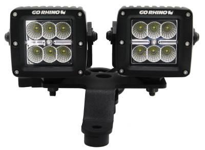 "Go Rhino - Montaje delantero para 2 LED?s 3"" Jeep Wrangler JL 18-21 / Jeep Gladiator 20-21 - Image 2"