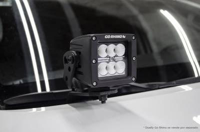 Go Rhino - Go Rhino Front Light Mount Kit (Kit de instalacion para Dually) Toyota Hilux 16 - 21 - Image 2
