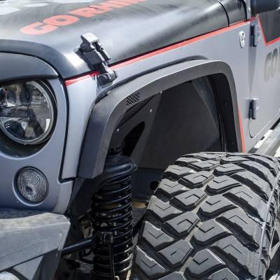 "Go Rhino - Go Rhino #701031T Cantoneras Frontales Roadline 3"" Jeep Wrangler JK 2/4 puertas 2007-2018 - Image 1"