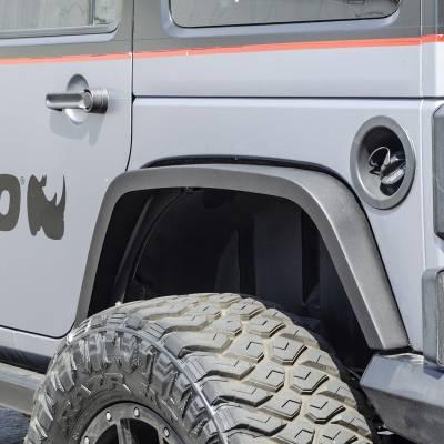 "Go Rhino - Cantoneras Posteriores Roadline 3"" Jeep Wrangler JK 2/4 puertas 2007-2018 - Image 1"